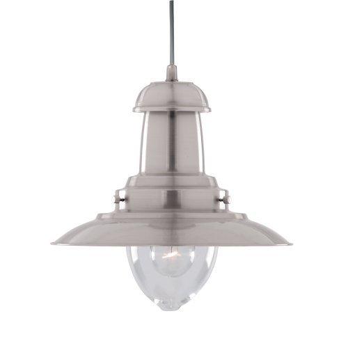 Lámpara de techo colgante moderna de plata satinada