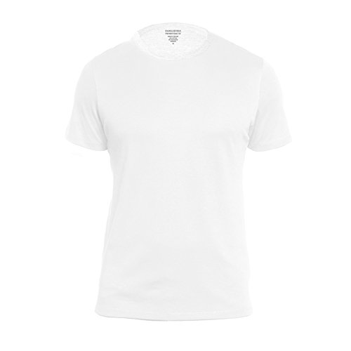 Banana Republic Men's Crew Neck Premium-Wash T Shirts (White, X-Large)