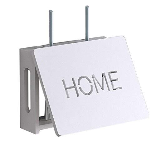 JCNFA Planken WiFi Router Kabel Plug Draad Doos, Creatieve Opbergdoos Op De Muur, Wandmontage Plank, Afstandsbediening Opslagplank, 2 Maten 11.81 * 2.95 * 8.66in Kleur: wit