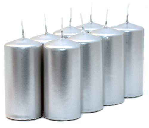 Aura Velas votivas metálicas Plateadas (40 mm x 80 mm)