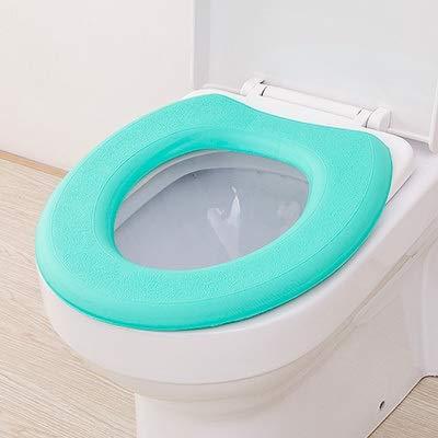 Toilet Mat Pratique Toilettes Tapis Toilettes Waterproof Soft Pad Siège Épaississement Siège de Toilette Toilettes Couverture (Color : Green)