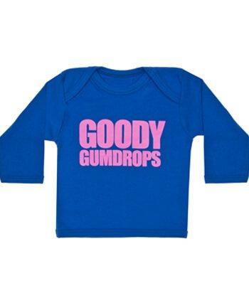 Goody gumdrops Cool Slogan Baby T Shirt | Cool Bebé Camisetas azul azul Talla:0-6 meses