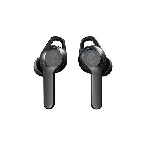 Skullcandy Auriculares Inalámbricos Indy Fuel True Wireless, Resistencia al Sudor, el Agua y al Polvo IP55, Batería de hasta 30 Horas de Duración Total - Negro