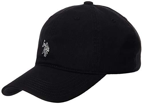 Concept One Men's U.S. Polo Assn. Pony Logo Baseball Hat, 100% Cotton, Adjustable Cap, Black, One Size