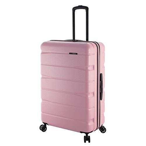 Rada Großer Reisekoffer ABS/13 75cm 90 Liter, Trolley Hartschale Ultra Stabil mit 4 360Grad Doppelrollen, Hardcase mit Volumenerweiterung, TSA-Zahlenschloss, Erweiterbar Unisex (rosa)