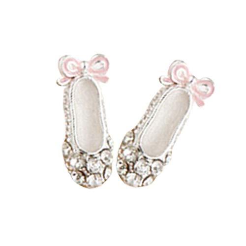teng hong hui Las Mujeres Rhinestones cristalinos Zapatos de Ballet Pernos prisioneros del oído de señora Jewelry Arco Pendientes de la señora del Bowknot oído de la joyería Espárragos