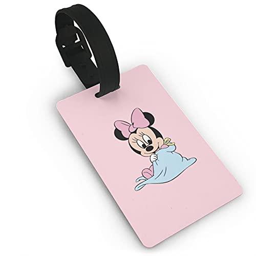 Minnie Mouse equipaje etiqueta maleta equipaje hombres y mujeres PVC sólido y duradero tarjeta de viaje niños accesorios de viaje 5.4x8.5cm