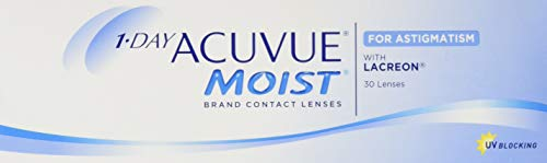 Acuvue 1-Day Moist For Astigmatism Tageslinsen weich, 30 Stück / BC 8.5 mm / DIA 14.5 mm / CYL -1.25 / ACHSE 140 / -0.5 Dioptrien