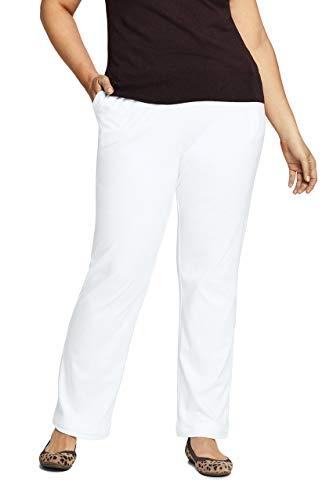 Lands' End Women s Sport Knit Pants White Regular Small