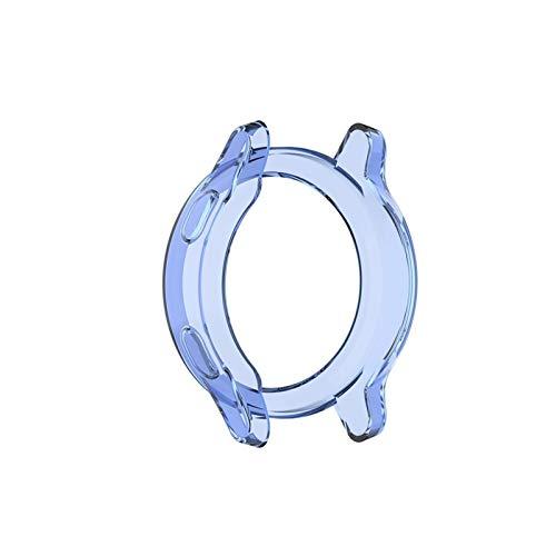 Cadre de Protecteur de Cas pour Garmin Vivoactive 4 / 4S Smart Watch pour Vivoactive 4S / 4 Écran Coquille de Protection (Color : Blue, Size : Garmin Vivoactive 4)