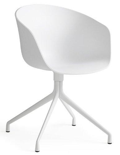 HAY stoel About a Chair AAC 20 - zitting wit - frame wit, hay dk Hee Welling and Hay, zitting polypropyleen - kunststof wit, frame staal wit poedercoating, eetkamerstoel - keukenstoel - eetkamerstoel, bureaustoel