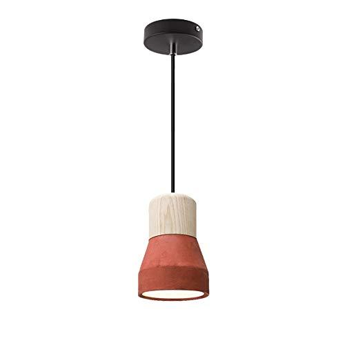 DLGGO Lámpara Colgante Industrial Vintage de Roble Loft 4.7