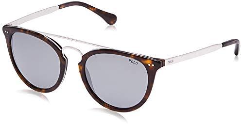 Polo Ralph Lauren Herren 0PH4121036G Sonnenbrille, Braun (Shiny Dark Havana/Flashsilvermirror), 51