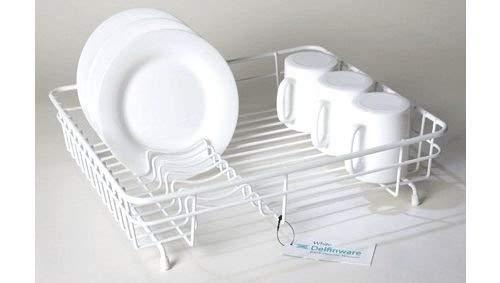 Égouttoir à vaisselle avec revêtement plastique Blanc Taille moyenne