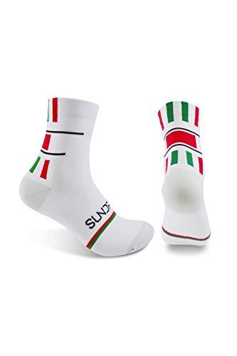 Sundried White Road-Fahrrad-Zyklus Socken Premium-MTB und Rennrad-Zyklus Kleidung (L/XL)