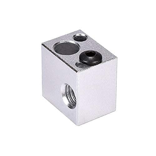 Buena estabilidad Accesorios de impresora Bloque de calentador Aluminio para V5 HALET HOTEND CUBIERTA DE SILICONA EXTRUDER Impresora 3D Piezas de calor V6 J-Head disipador de calor (Color: V5 Socket S