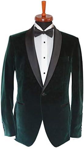 Mens Tuxedo Designer Green Velvet Jackets C Lapel Shawl Slim Memphis Mall Award-winning store Fit
