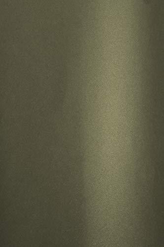 Netuno 20 cajas de cartón nacarado y gris oscuro, 280 g, DIN A4, 210 x 297 mm, Aster Metallic Grey Gold brillante, cartulina perlada brillante para tarjetas de boda, invitación