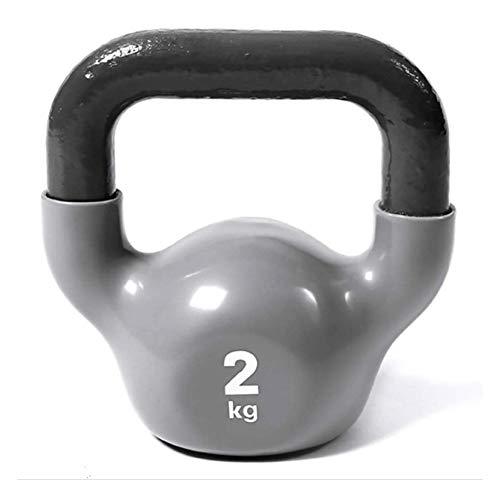 GJX Pesa Rusa Kettlebell Antideslizante de 2kg for Mujer, Equipo de Ejercicio for el hogar Equipo de