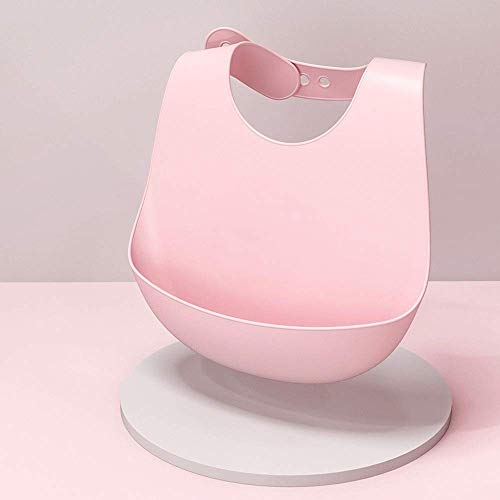 Nuevo babero para bebé, imagen de animal ajustable, baberos que gotean saliva a prueba de agua, toalla de silicona comestible suave Ssaliva (BIB012-A)