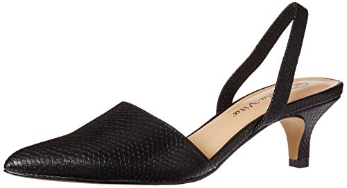 Bella Vita Women's Sarah II Slingback Dress Shoe Shoe, Black Snake, 5.5 M US