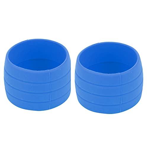 バイクハンドルバーテープストラップシリコンリング、アンチスキップハンドルバーテープ固定ベルトリングスリーブバイクシリコン弾性ストラップロードバイクバーテープ用固定リング(青)