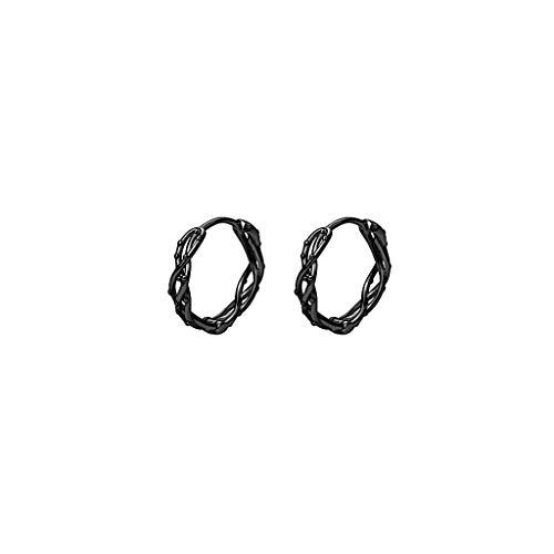 ZHIHUI Pendientes de Pernos para Hombres Pendientes Frescos para Niños Hechos de Silver Stud Ear Set Día de San Valentín (Color : E)