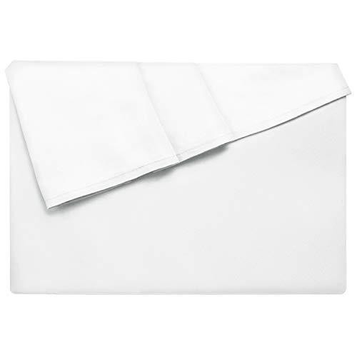 Lirex Lenzuolo Piatto, 266 cm x 258 cm Size Extra Morbido Lenzuolo Piatto in Microfibra Spazzolata, Lavabile in Lavatrice Senza Pieghe, Traspirante, Bianco