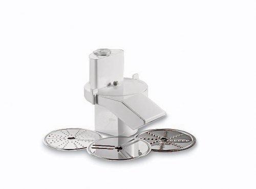 Bosch Durchlaufschnitzler MUZ6DS3, passend für die MUM6 Küchenmaschine, Schneide-Wendescheibe, Reibscheibe, Raspel-Wendscheibe, weiß