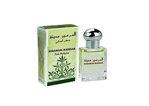Madinah Al Haramain Parfum 15ml Oil (alkoholfrei, amber, orientalisch, arabisch, oud, misk, moschus, natural perfume, adlerholz, ätherisch, attar scent)