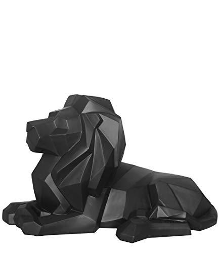 Present Time - Statue Lion Noir Origami