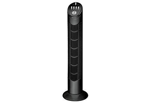 Clatronic Tower-Ventilator T-VL 3546, 75° oszillierend, 3 Geschwindigkeitsstufen, 120 Minuten-Timer, schwarz