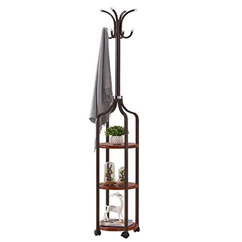 Metalen kapstok kledingrek, ijzer-modern dubbel multifunctioneel onderstel, hallen-boom-entree slaapkamer-kantoor-industrieel meubel met haak