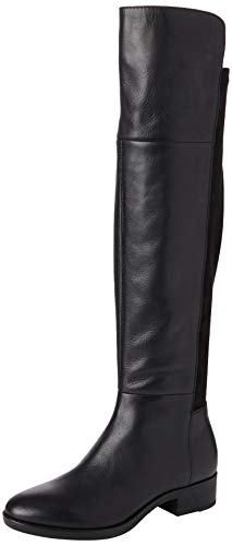 Geox Damen D Felicity I Over-The-Knee Boot, Black, 35 EU