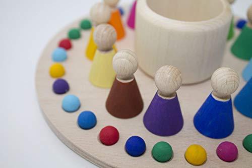 Kalender Dauerkalender Holz Kugeln Monatskalender Monate Tage Figuren für die Monate Jahr Montessori Waldorf Pikler Jahreskalender Lernen