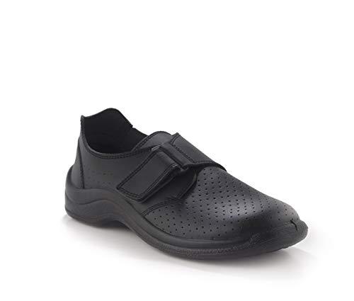 Codeor MYVN.37 MyCodeor Velcro Non Punched Professional - Zapatos de seguridad con cierre de velcro, color negro, talla 37