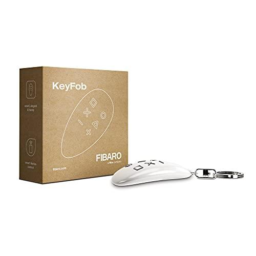FIBARO KeyFob Remote, Z-Wave Plus Scene Controller, FGKF-601, White