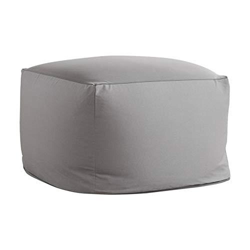 Funda para sofá, puf y asiento con reposapiés, mezcla de algodón, decoración para la casa, sala de estar, cojín para silla, saco de judías cuadrado, estilo japonés, sin relleno Tatami(gris plata)