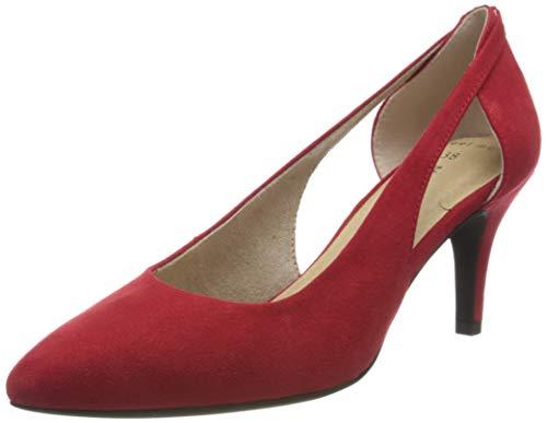 MARCO TOZZI 2-2-22444-24, Zapatos de tacón con Punta Cerrada para Mujer, Rojo Red 500, 37 EU