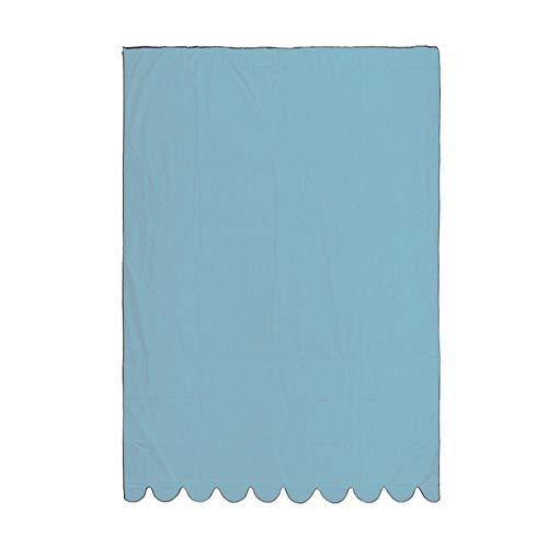 Cedarfiny Toldo impermeable para patio, toldo, ventana o ventana, cortina de repuesto para patio o jardín exterior, azul, 3*1.5m