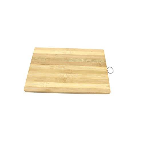 Heigmz ab Tabla de cortar de bambú tabla de cortar lámpara y vajilla de cocina orgánica tabla de cortar de bambú madera bambú no es fácil de ser grasoso, accesorios de cocina duraderos