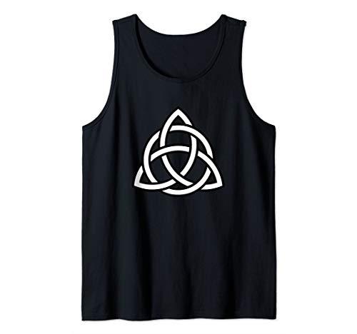 Trinity Knot Irish Celtic Tribal Knot Pagan Agnostic Symbol Tank Top