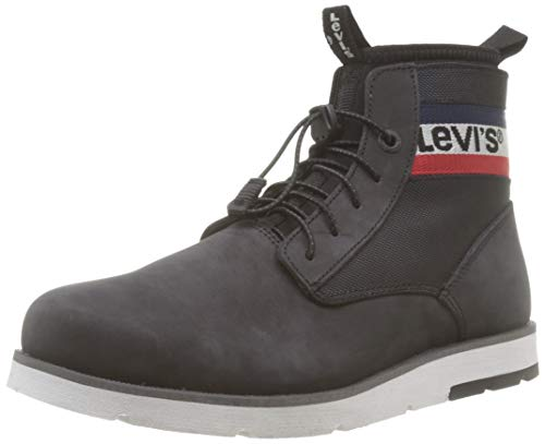 Levi's Herren Jax Lite Sportswear Chukka, Schwarz (Boots 59), 43 EU