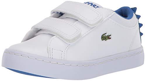 Lacoste Baby Straightset 120 1 CUI Sneaker, White/Blue, 9 Medium US Toddler