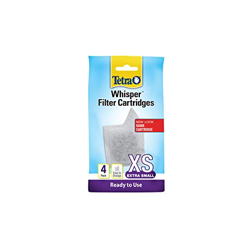 Tetra Whisper Filter Cartridges 4 Count, Extra Small, For aquarium Filtration (AQ-78052),white