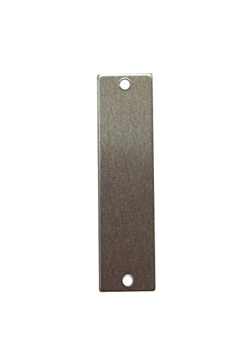 RMP Stamping Blanks, 1/2 Inch x 2 Inch Rectangle w/Two Holes, Aluminum 0.032 Inch (20 Ga.) - 50 Pack