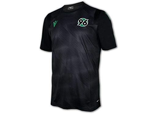 Macron Hannover 96 Trainingsshirt 20 21 schwarz H96 Fan Jersey Fußball Trikot, Größe:M