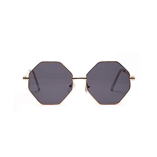Gafas De Sol De Aviador Clásicas, Montura De Metal Vintage, Lentes Transparentes De Color Octogonal, Gafas De Conducción Retro para Mujer,D