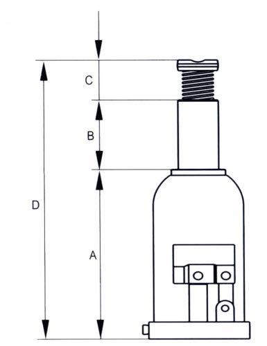 Rodac SAM-HCB-12 Flaschenheber 12t. Inhalt: 1 Stück, grau, HCB12