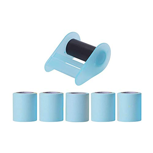 Zhenwo Sticky Notes Self-Adhesive Sticky Notes Office School Sticky Notes Dispenser Sticky Notes Roll with 4 Refill Rolls Memo Notes Paper Sticky Notes Paper Sticky Notes Creative Sticky Notes,Blau